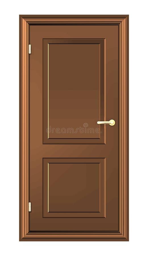 布朗木头门 向量例证