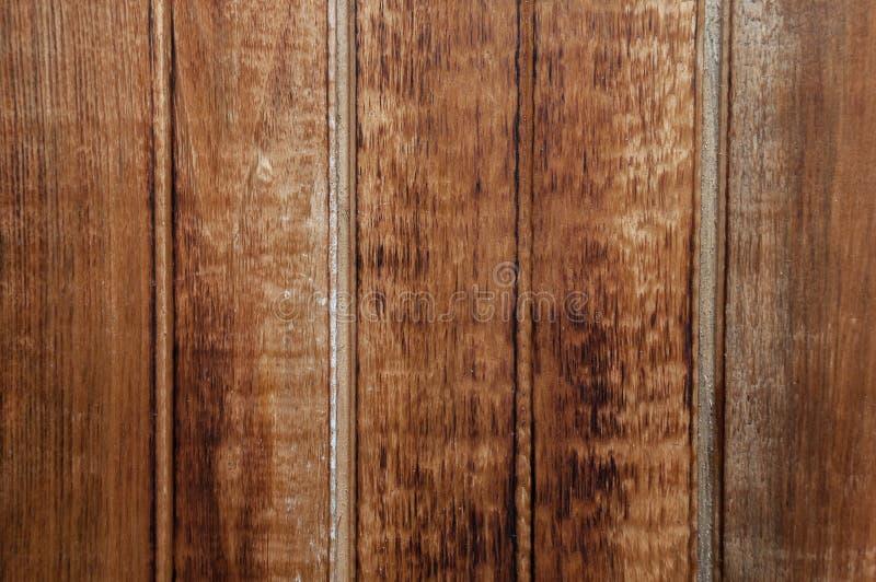 布朗构造了老木板侧面板  免版税库存图片