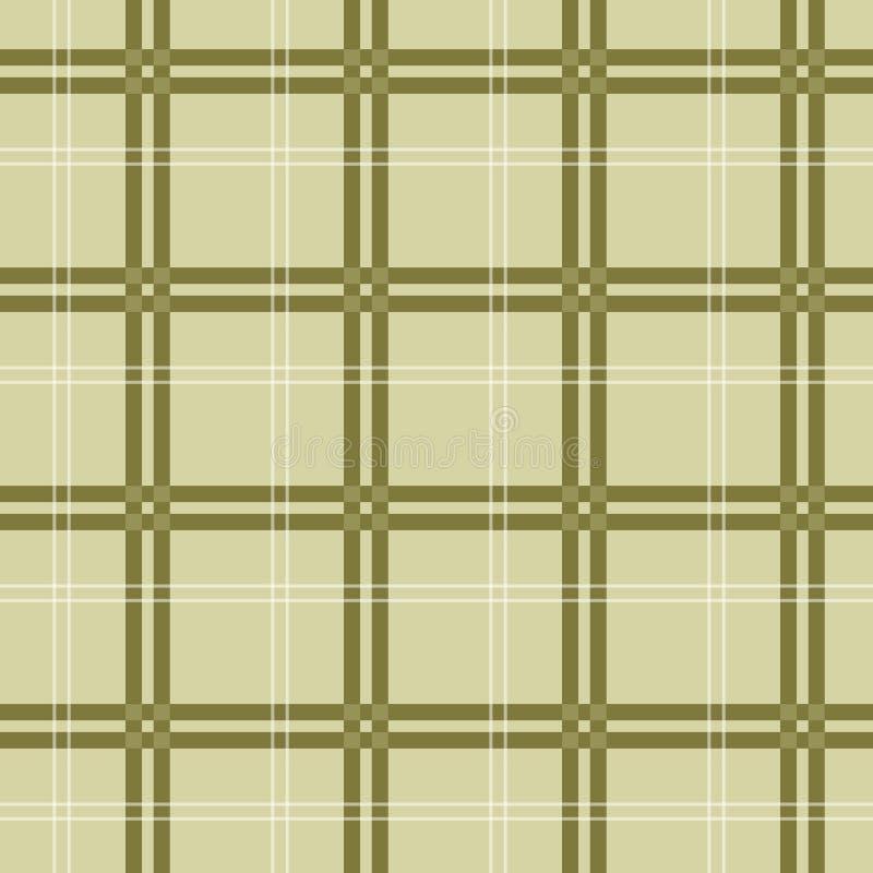 布朗格子花苏格兰人样式 布朗,灰棕色,白色颜色 苏格兰人、伐木工人和行家时尚样式 EPS10 库存例证