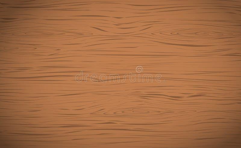 布朗水平的木切口、砧板、桌或者地板表面 木纹理 库存例证