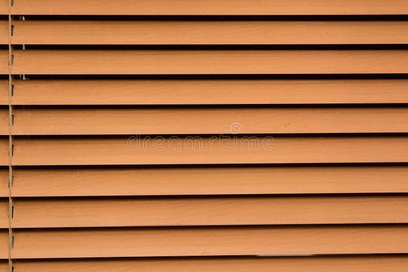 布朗水平的窗帘关闭 免版税库存照片