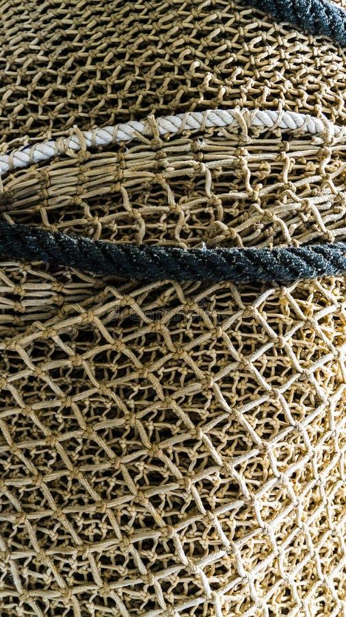 布朗渔网在帕尔马港口 免版税库存图片
