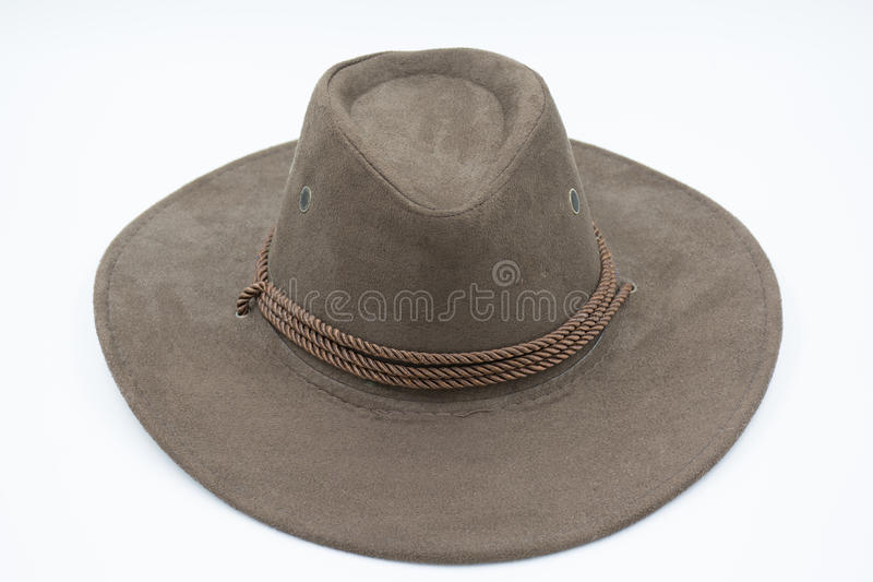布朗牛仔帽 免版税图库摄影