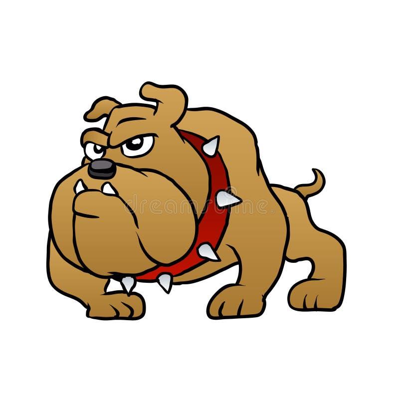 布朗牛头犬传染媒介例证 向量例证
