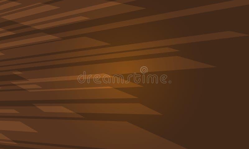 布朗现代抽象剪几何背景传染媒介例证 库存例证
