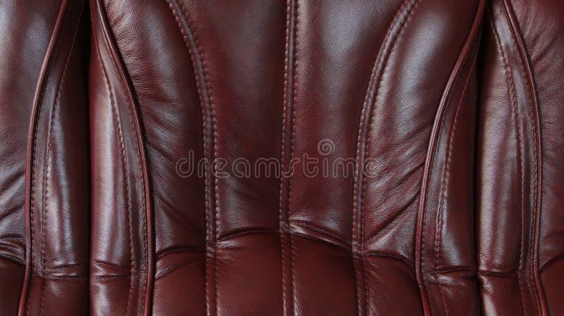 布朗用皮革包盖纹理 免版税库存照片