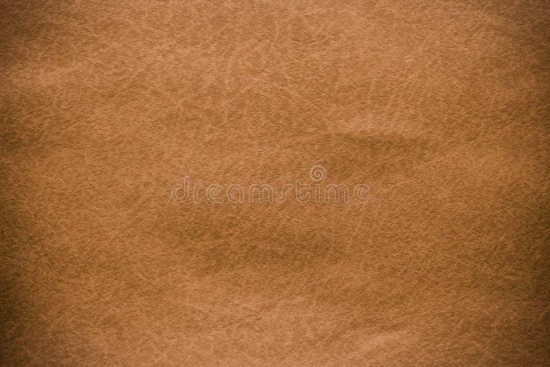 布朗皮革纹理特写镜头和样式背景 库存图片