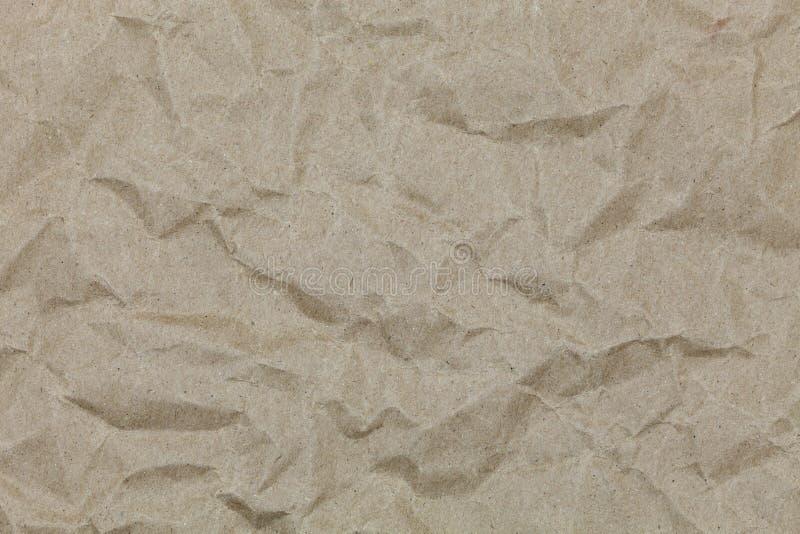 布朗皱痕回收设计和背景的纸 库存照片