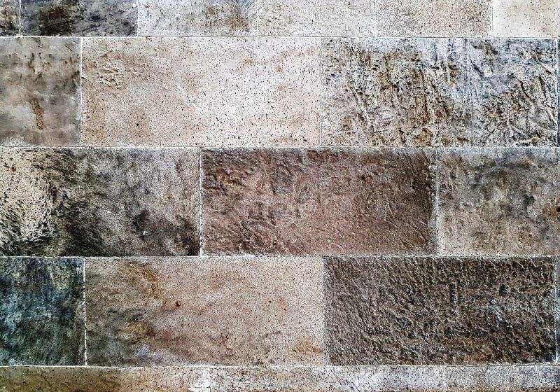 布朗石墙,背景,纹理 免版税库存图片