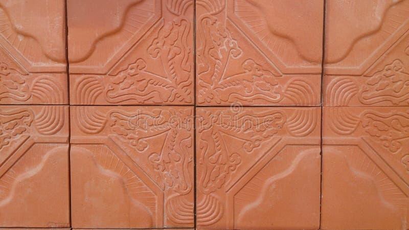 布朗砖纹理墙纸和背景 免版税图库摄影