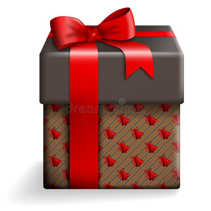 布朗礼物盒 向量例证