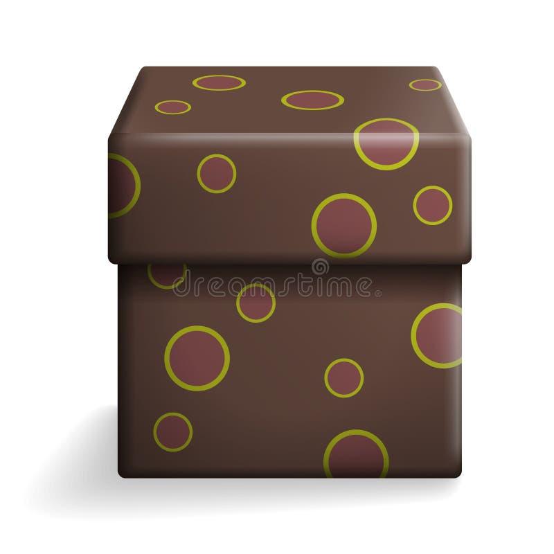 布朗礼物盒 皇族释放例证