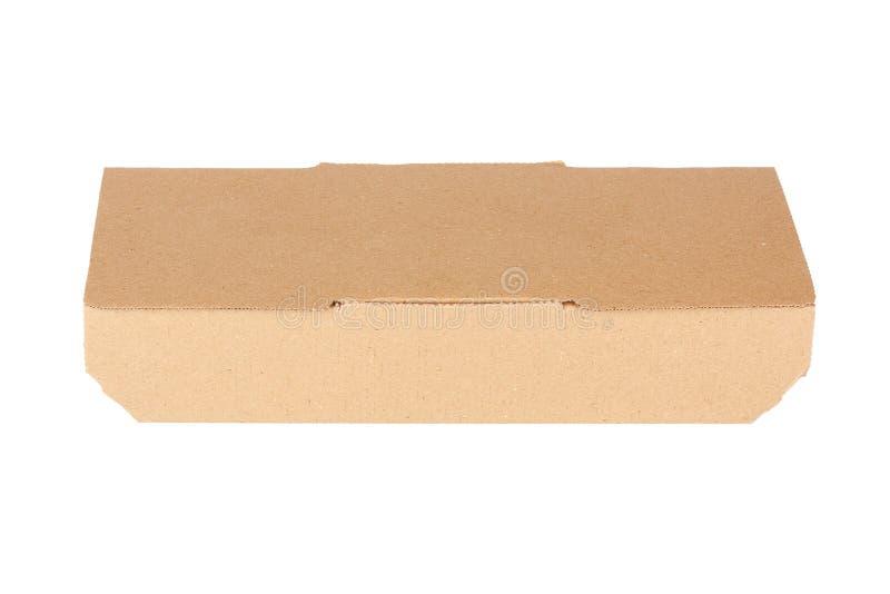 布朗纸板快餐箱子,包装为午餐,中国食物 免版税库存图片