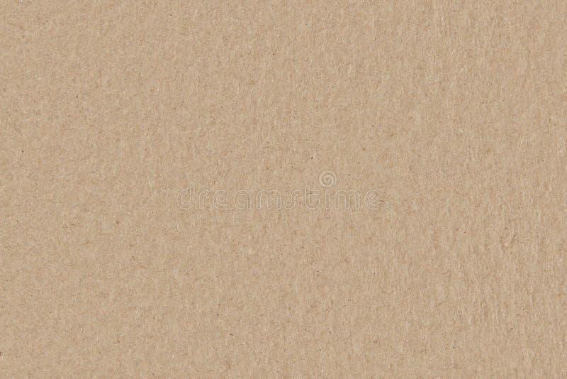 布朗纸板无缝的纹理,光滑的概略的纸背景 免版税库存照片