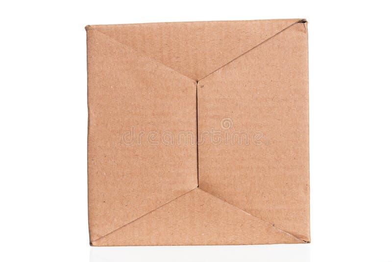 布朗纸板纸片,抽象纹理 库存图片