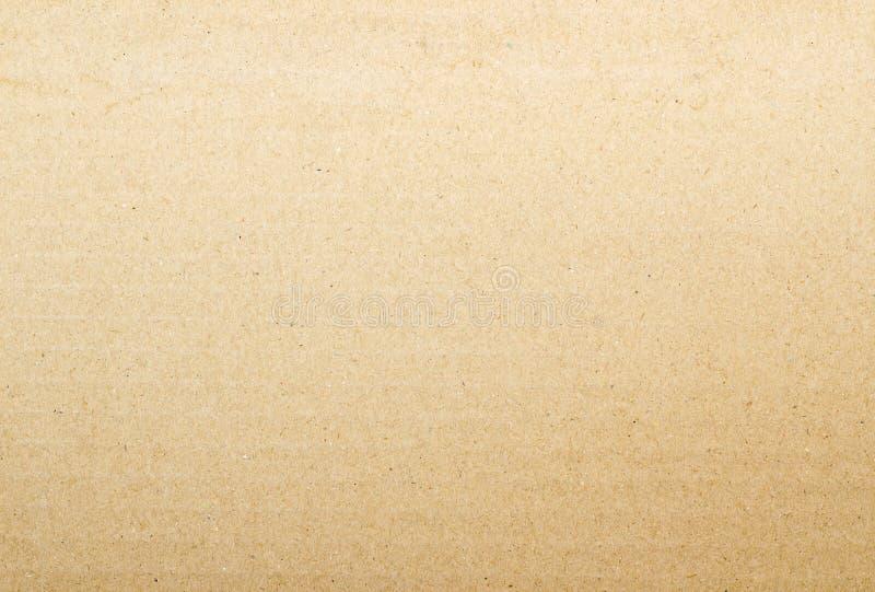 布朗纸板纸背景 库存照片