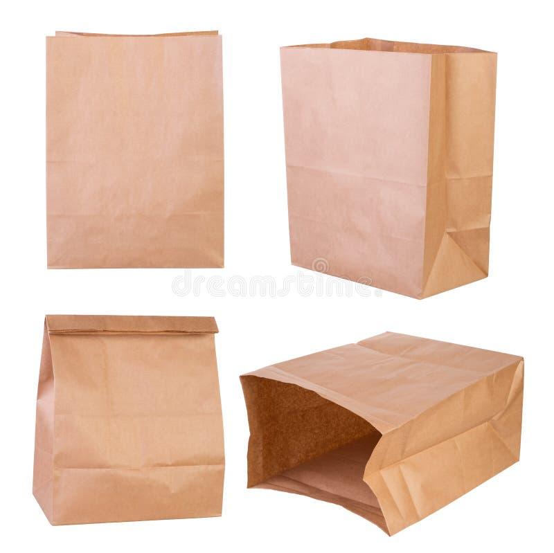 布朗纸袋 免版税库存照片