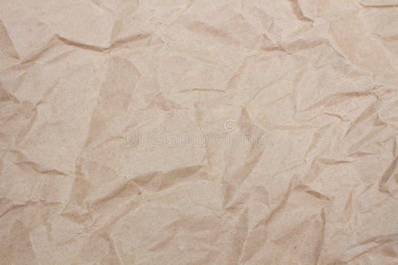 布朗纹理使纸成波状,背景的 库存图片