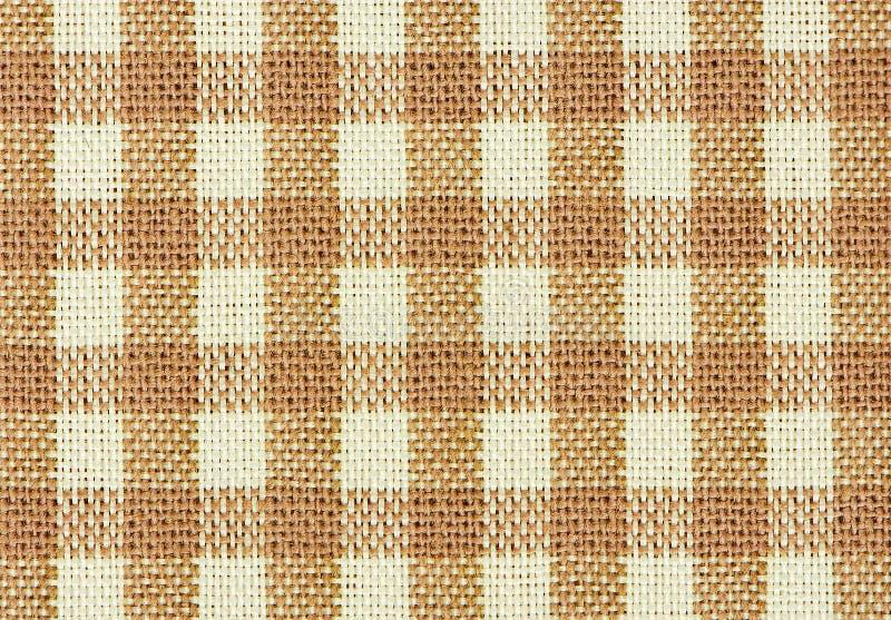 布朗经典方格的织品 免版税库存图片