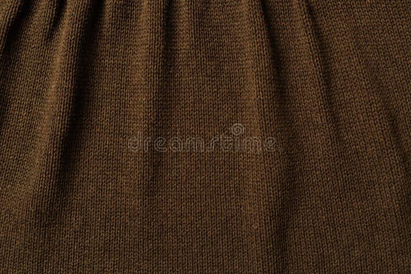布朗编织羊毛衣物 免版税图库摄影