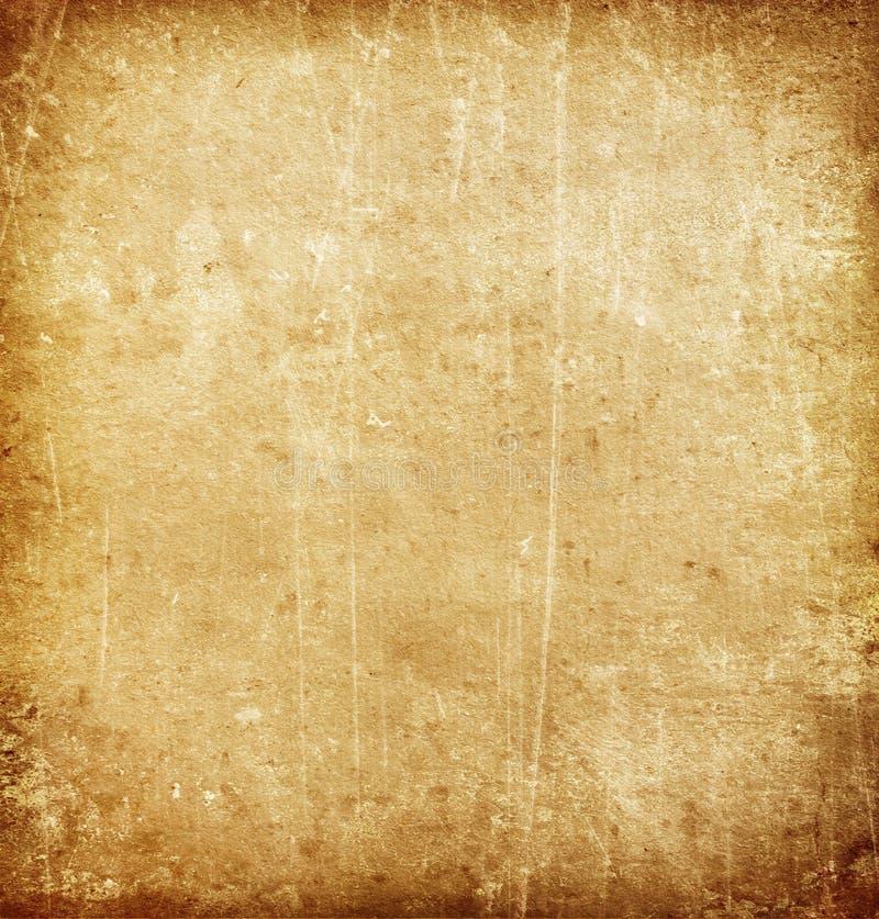 布朗老纸纹理难看的东西背景,污点,抓 皇族释放例证