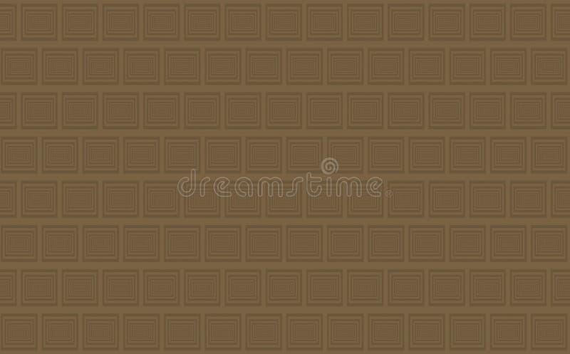 布朗背景巧克力瓦片样式从大幻觉深度 皇族释放例证