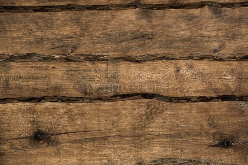 布朗自然木背景 库存图片
