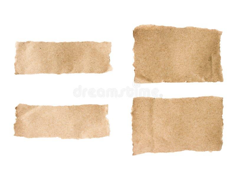 布朗被撕毁的纸集合 向量例证