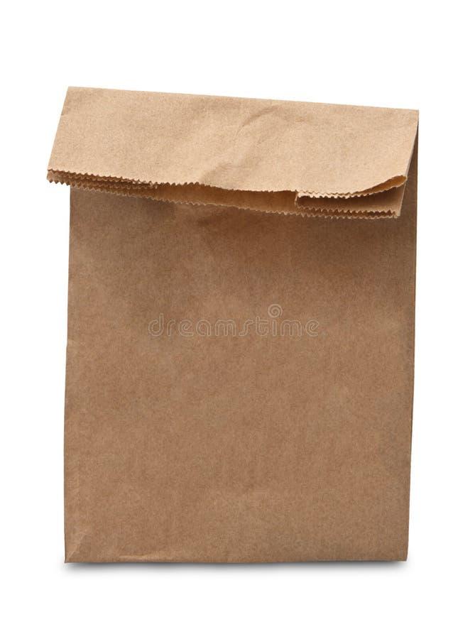 布朗被隔绝的午餐袋子 免版税库存图片