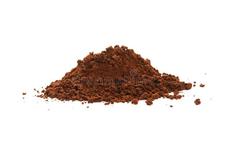 布朗速溶咖啡粉末 免版税库存图片