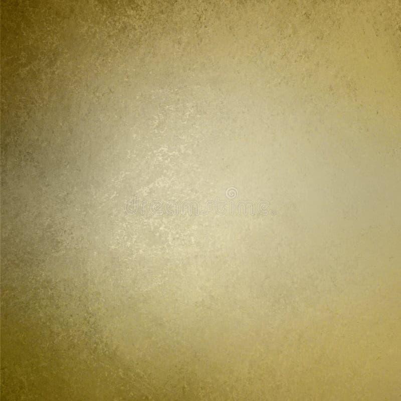 布朗金背景葡萄酒墙壁纹理 向量例证