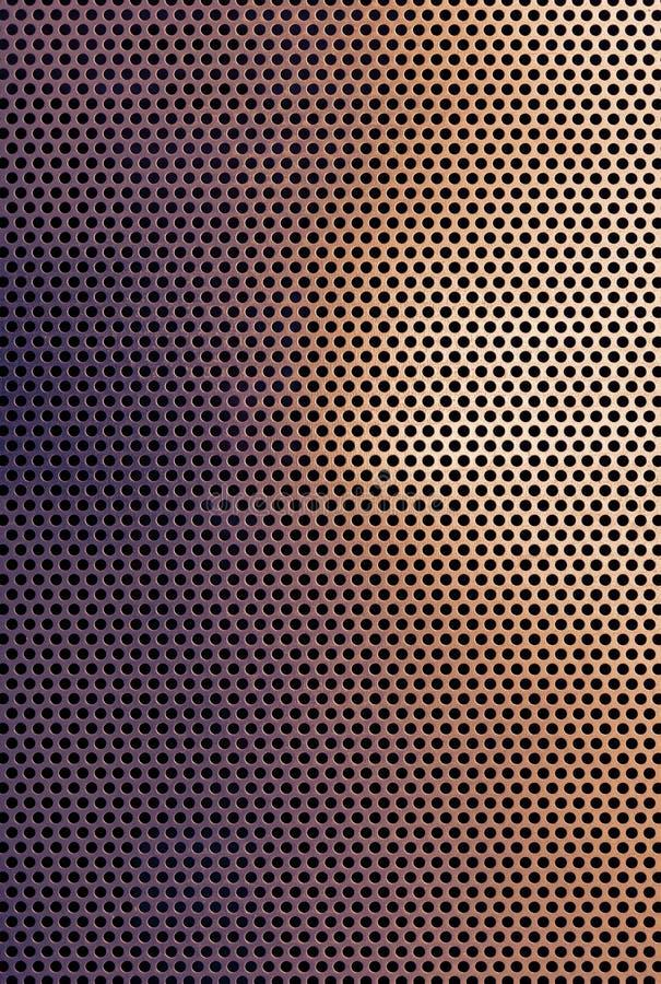 布朗铜色的金属栅格背景 免版税库存照片