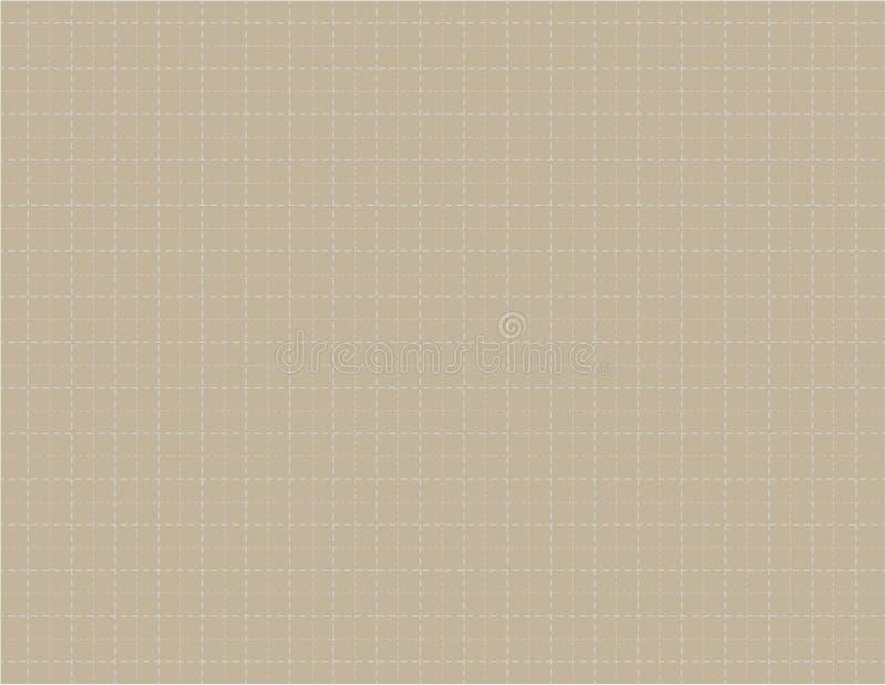 布朗颜色座标图纸帆布有画的传染媒介例证的许多破折线背景 库存例证