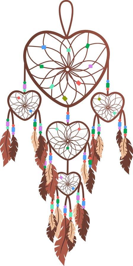 布朗,信念,羽毛,自由,和平 皇族释放例证