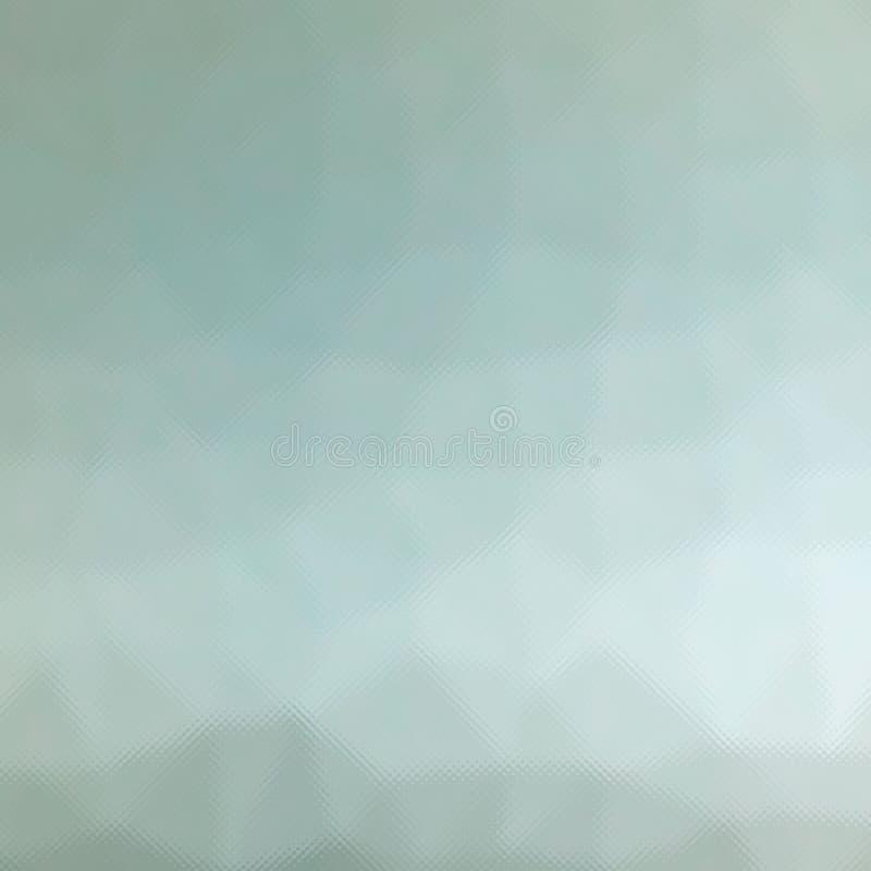 布朗,灰色和绿色柔和的淡色彩通过在方形的形状背景例证的微小的玻璃 皇族释放例证