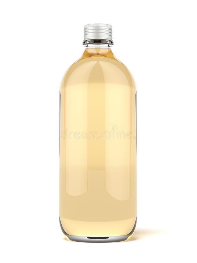 布朗玻璃啤酒瓶 向量例证