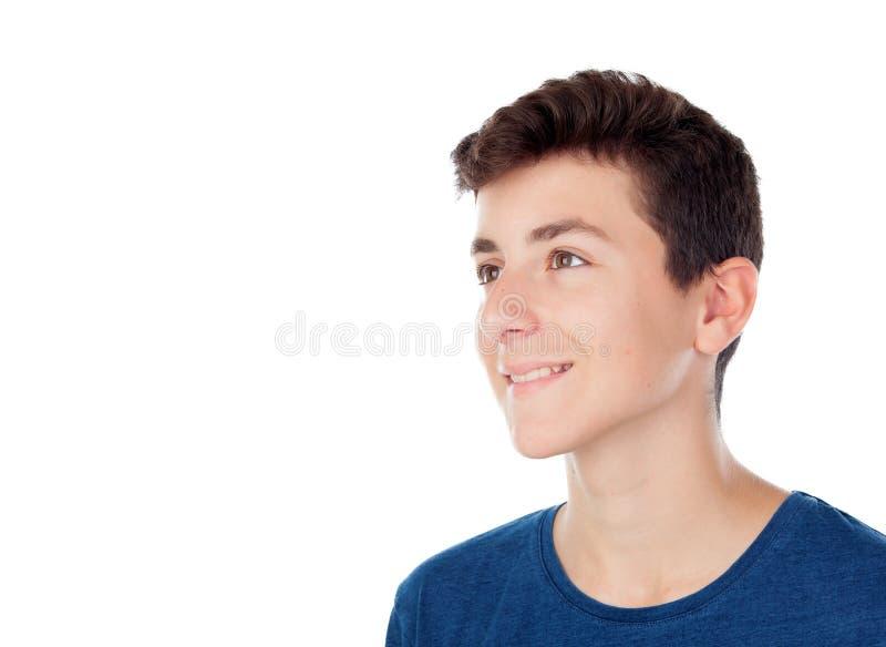 布朗年轻白种人男孩 图库摄影