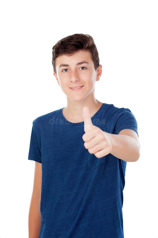 布朗年轻白种人男孩 免版税库存照片