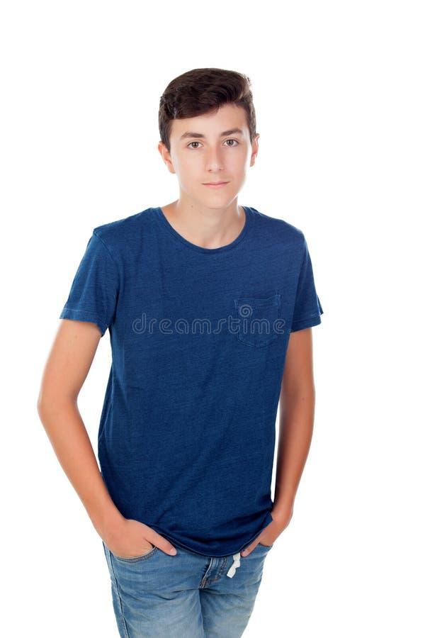 布朗年轻白种人男孩 库存照片