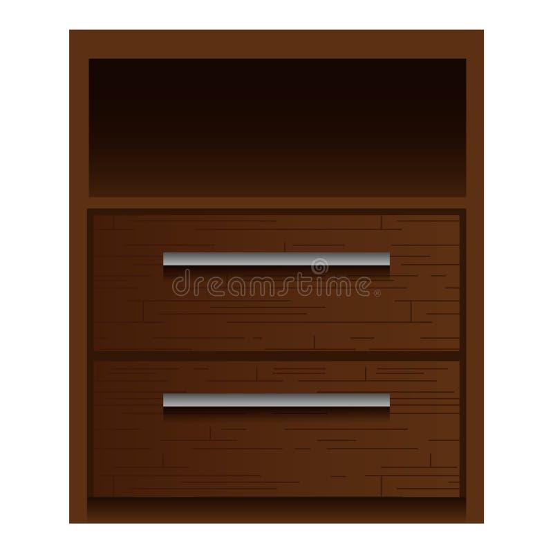 布朗nightstand大模型,现实样式 库存例证