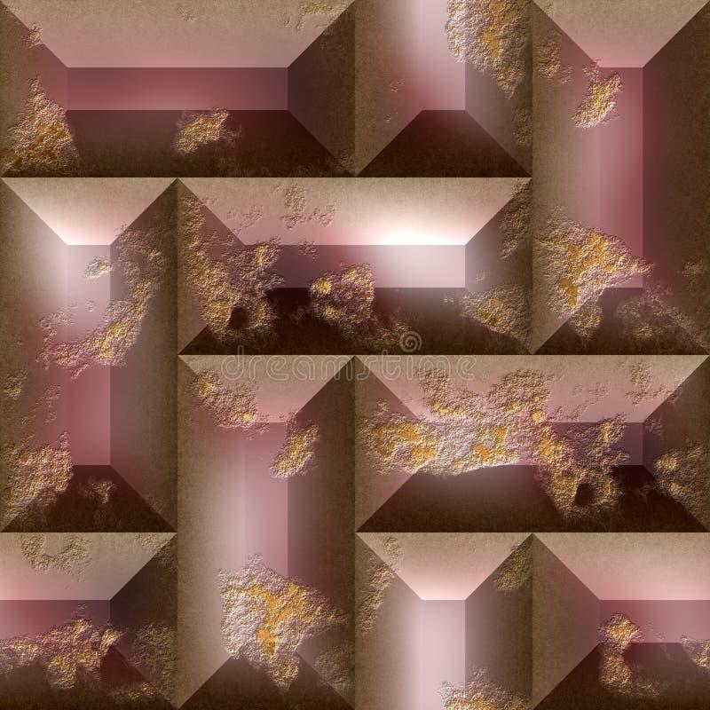布朗tileable抽象样式 向量例证