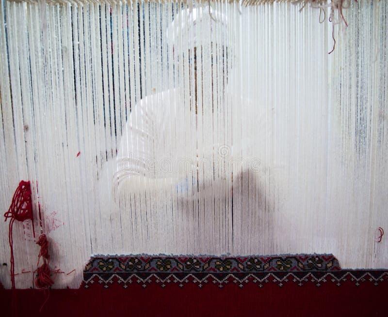 织布机工作者 免版税库存照片