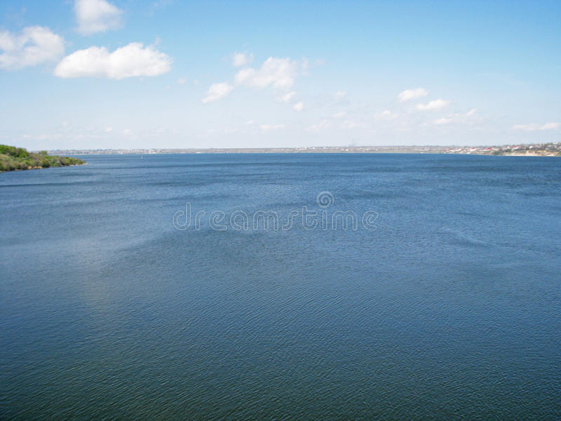 布格河的看法在乌克兰在春天 图库摄影