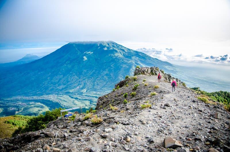 默巴布火山 库存图片
