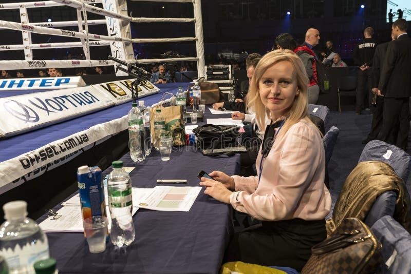 布罗瓦里 乌克兰, 14 11 2015年阿里纳Shaternikova,冠军  免版税库存照片