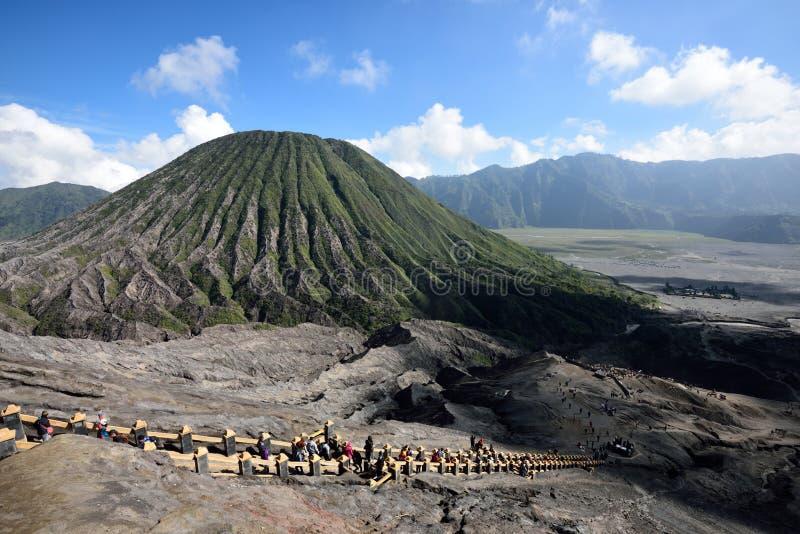 布罗莫火山,印度尼西亚 库存照片