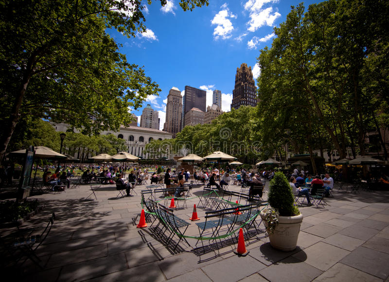布耐恩特市曼哈顿新的公园约克 免版税库存图片