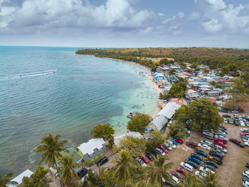 布耶海滩卡博罗霍波多黎各 免版税库存照片