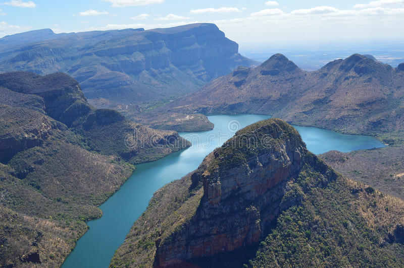 布莱德河峡谷风景 免版税库存照片