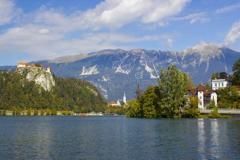 布莱德湖在斯洛文尼亚 免版税图库摄影